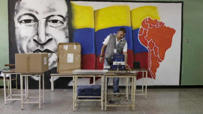 Venezuelan Voting Station