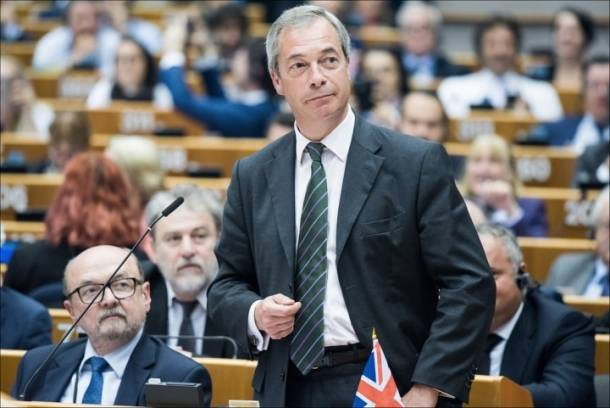 Farage standing up