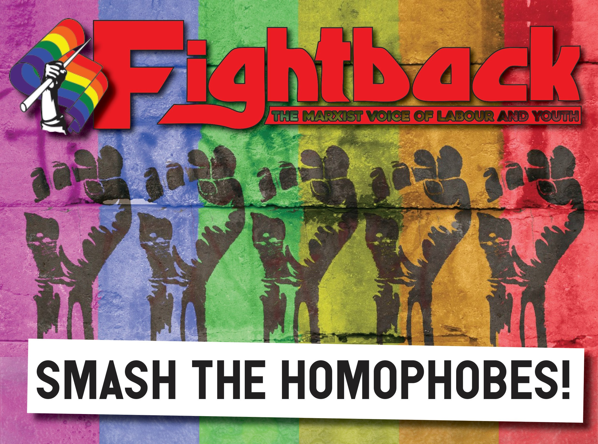 Fightback's fight homophobes graphic