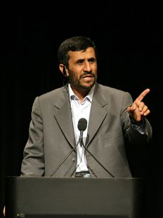Mahmoud Ahmadinejad. Photo by Daniella Zalcman.