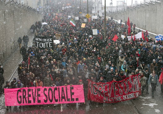 Anti austerity march in Montreal March 21 2015 photo by Canadian Press 3