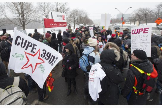 CUPE 3903 at York University (Photo Credit: Cupe 3903)