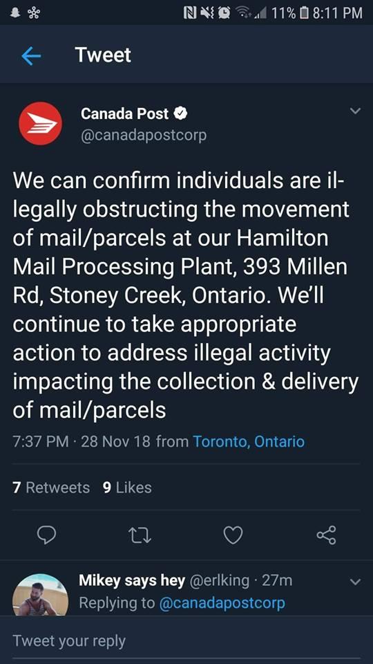 Canada Post Lies