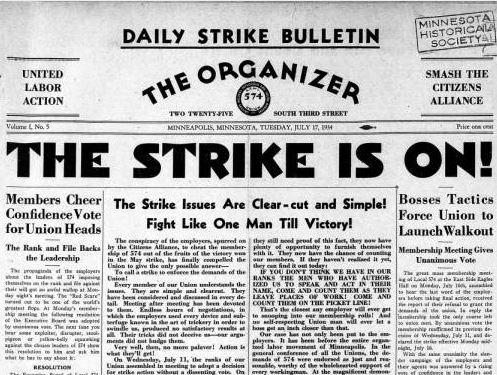 "A 1934 edition of ""The Organizer."" (Minnesota Digital Library)"