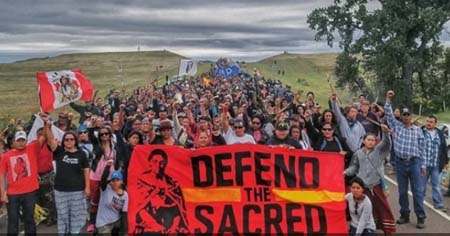 Protesters Road Dakota Access Pipeline