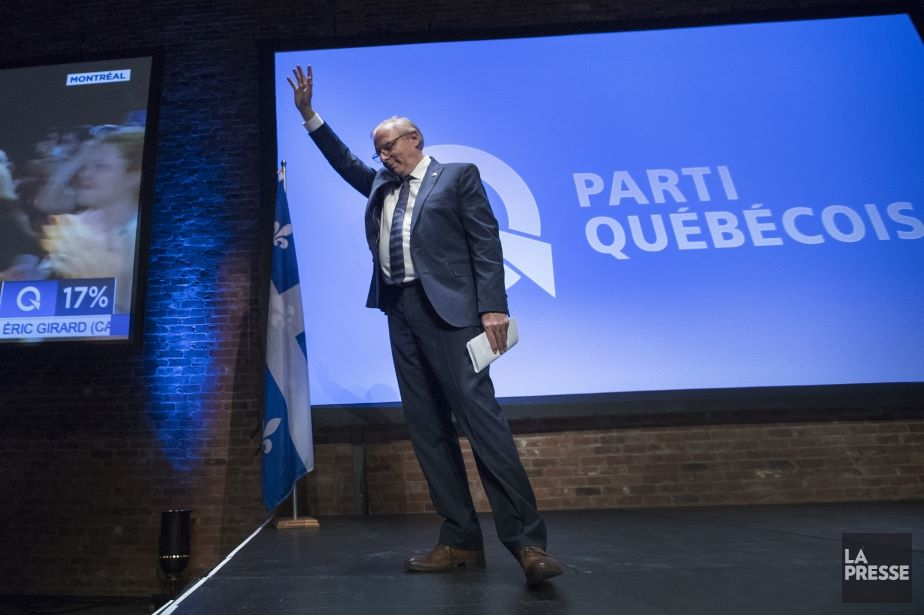 Jean-François Lisée announcing his resignation (Photo Credit: MARTIN CROTEAU/ La Presse)