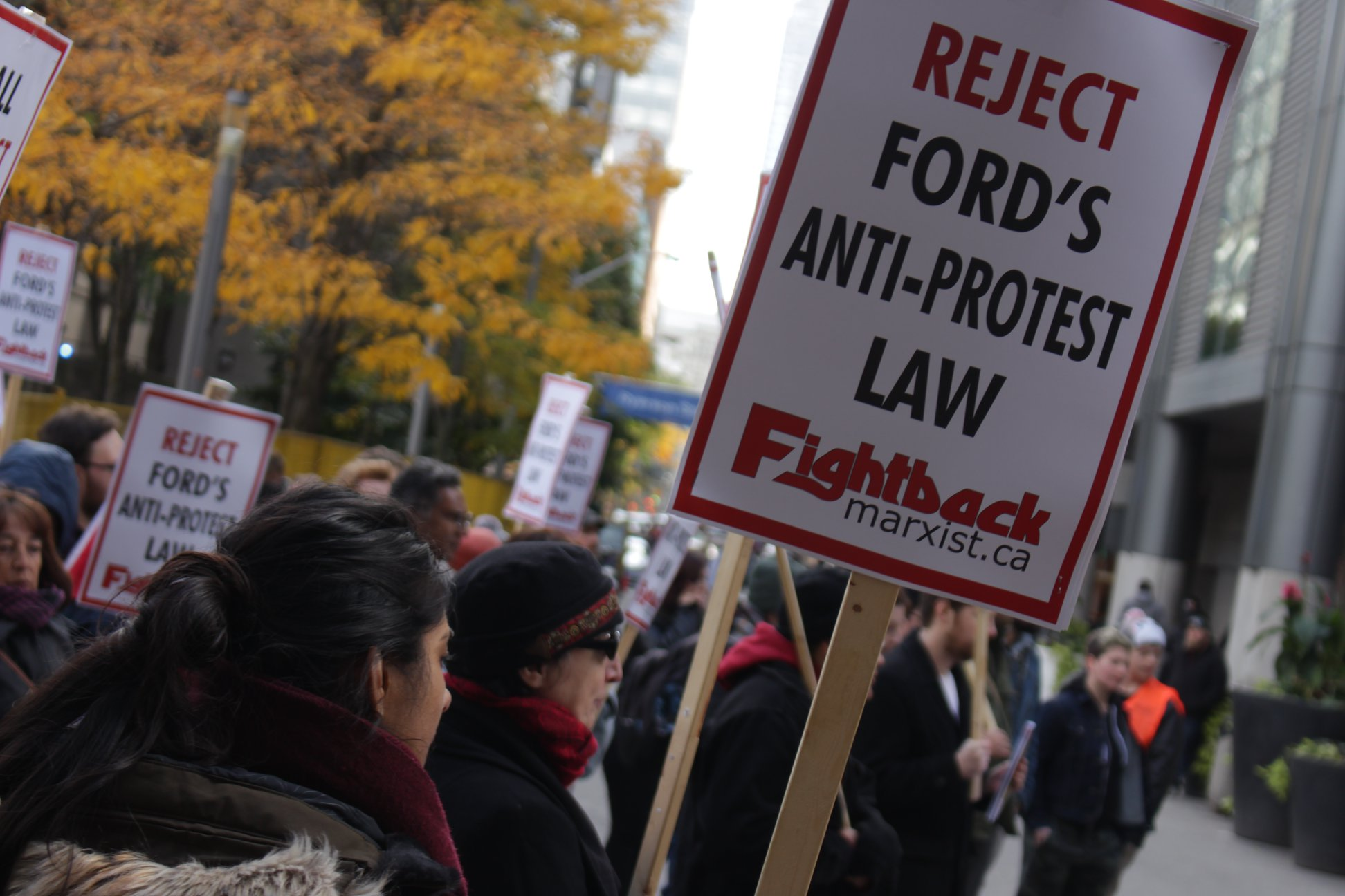 Defeat Doug Ford's antiprotest law