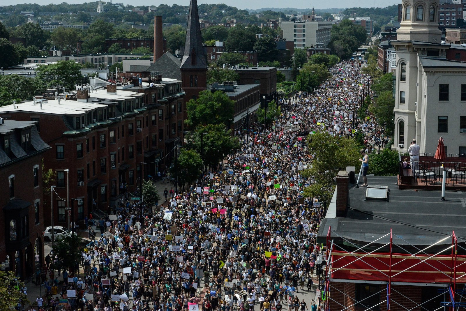 Boston Commons Rally