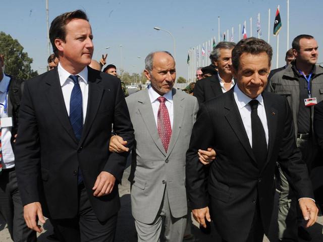 David Cameron, Nicolas Sarkozy and Mustafa Abdul Jalil - Photo: Number 10