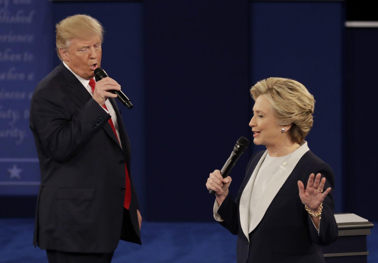 clinton trump debate sparring