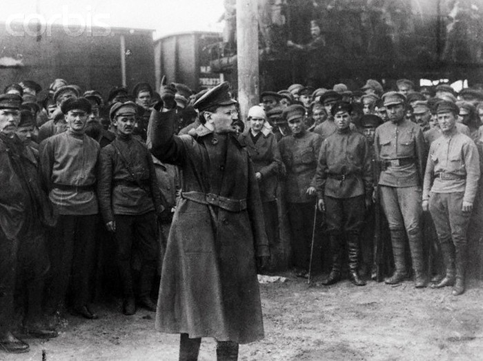 The makers of Trotsky would have us believe that Trotsky won the Civil War by using terrible violence and repression, rather than by assembling the Red Army from nothing to heroically defend the revolution / Image: public domain