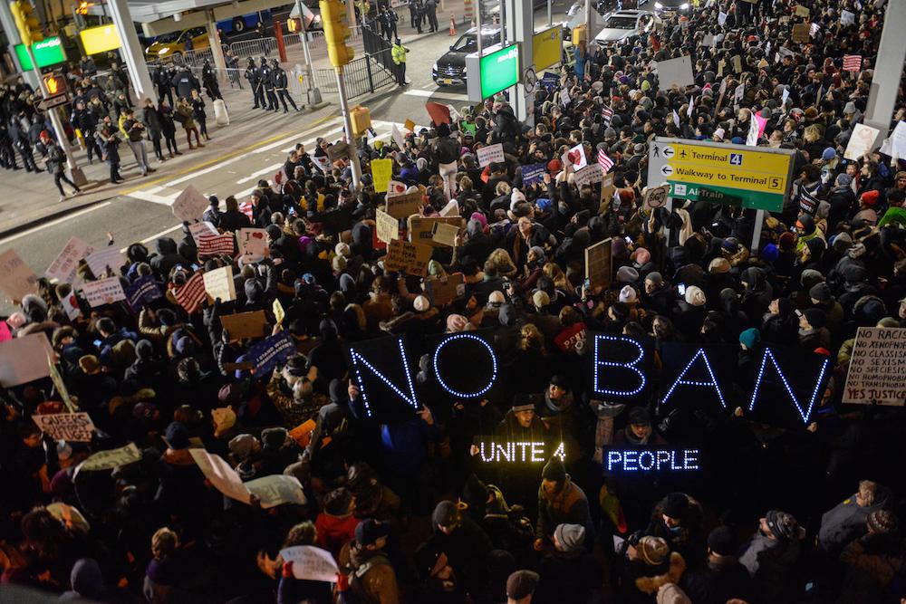 jfk muslim ban protests