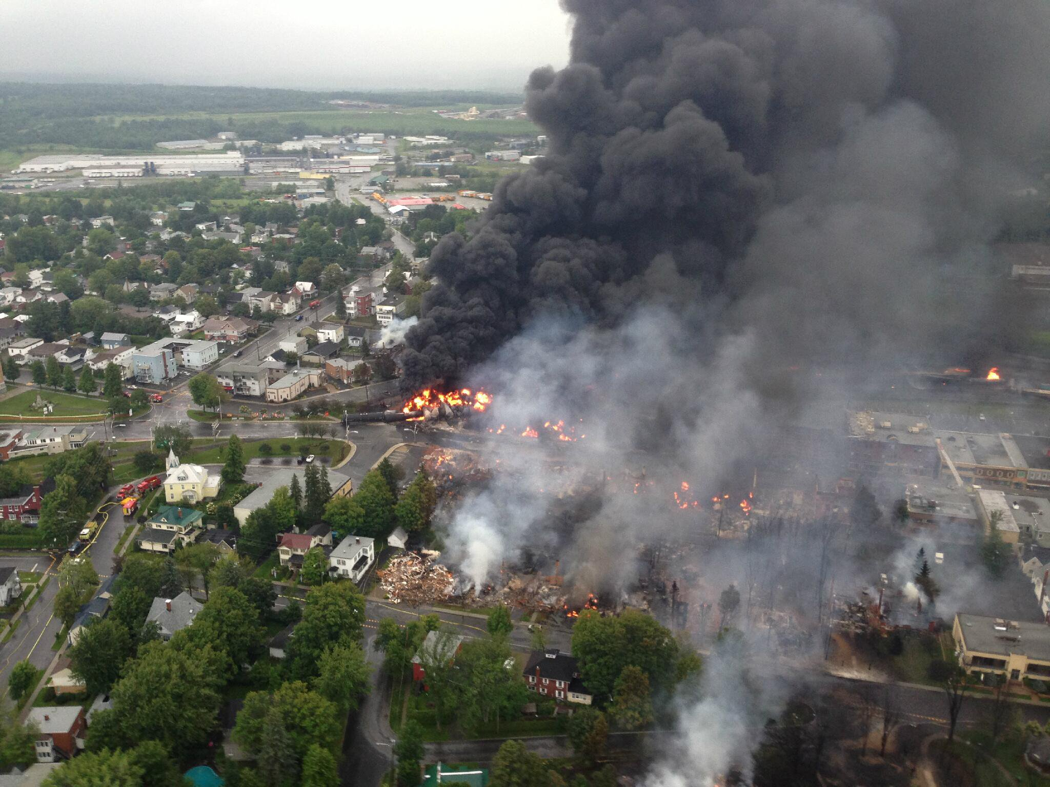 Aftermath of Lac-Megantic train explosion