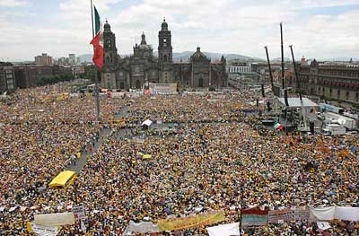 1.5 million march in Mexico against electoral fraud