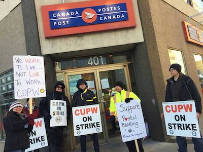 postal workers strike