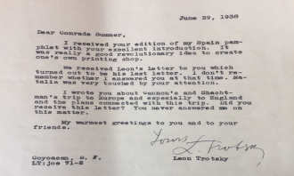 Trotsky's Suppressed Letter