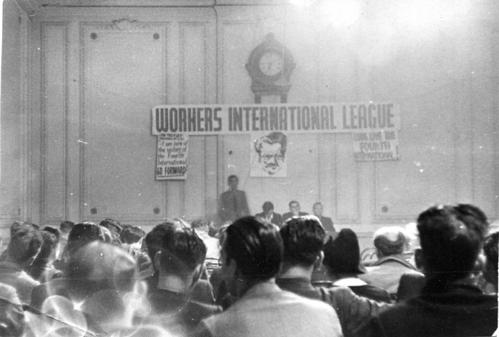 WIL's Trotsky Memorial meeting, August 1942 / Image: Ted Grant Archive