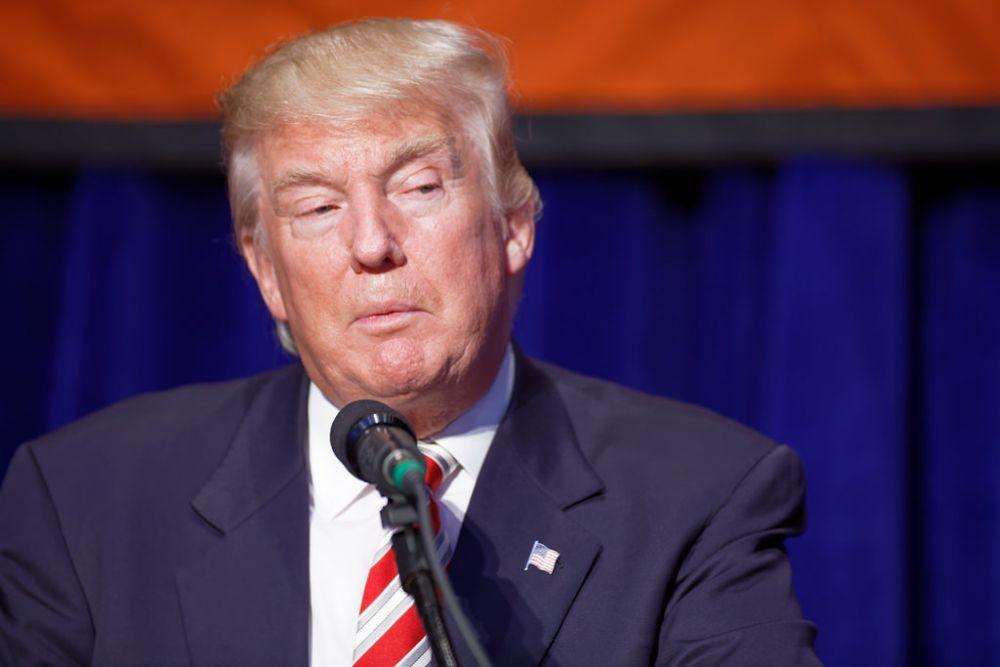President Trump Glaring