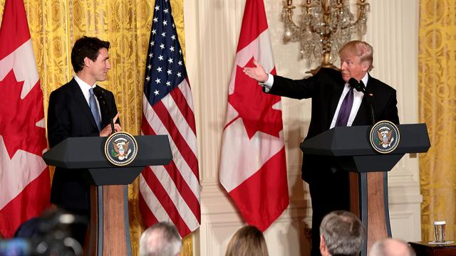 Donald Trump And Justin Trudeau (Photo Credit: Greg Nash)