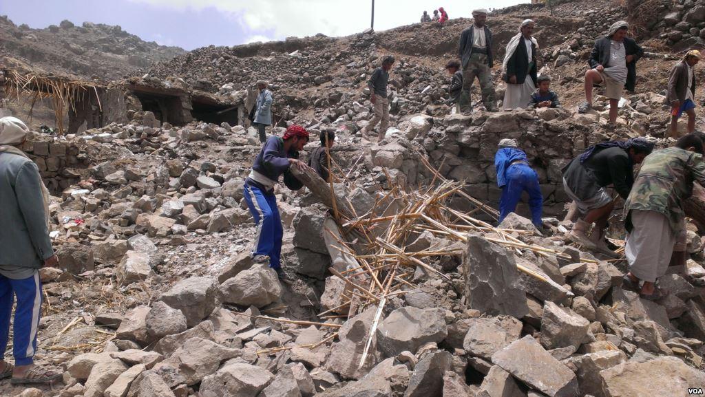 yemen destruction by bombing